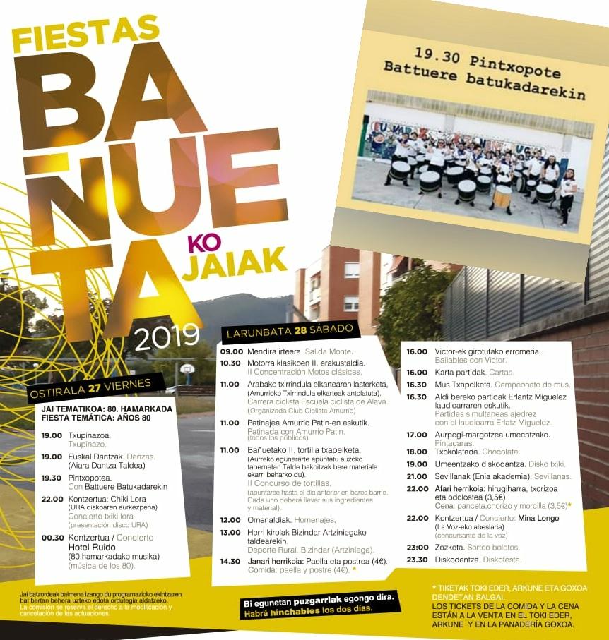 Batukada Battuere - Fiestas de Bañueta 2019 Bañuetako Jaiak